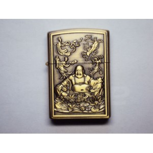Hand Carved Vietnam Lighter -with statue Buddha - very rare