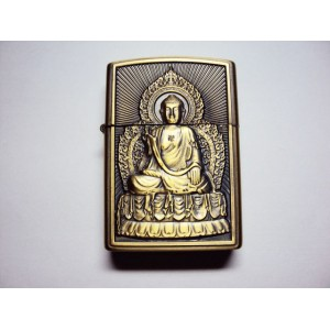 Hand Carved Vietnam Lighter -with statue Buddha - very rare 4