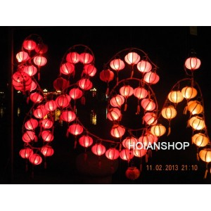 3 Wholesale: Vietnam HOI AN Silk Lanterns WEDDING PARTY - Wedding Home Decoration