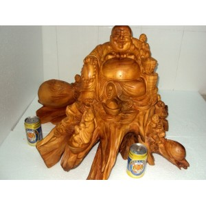 New Hand Carved Wood Art Buddha Statue -Sculpture Buddha -Vietnam Carving-19inch - N2