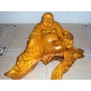 New Hand Carved Wood Art Buddha Statue -Sculpture Buddha -Vietnam Carving-12 inch