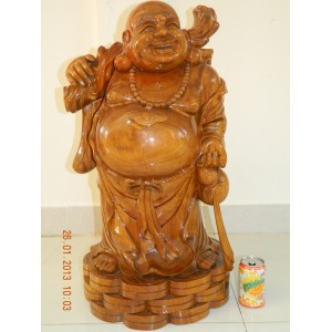 Hand Carved Wood Art Buddha Statue -Sculpture wooden Buddha -Vietnam Carving -N1