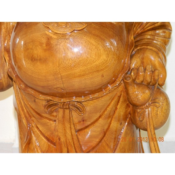 Hand carved wood art buddha statue sculpture wooden