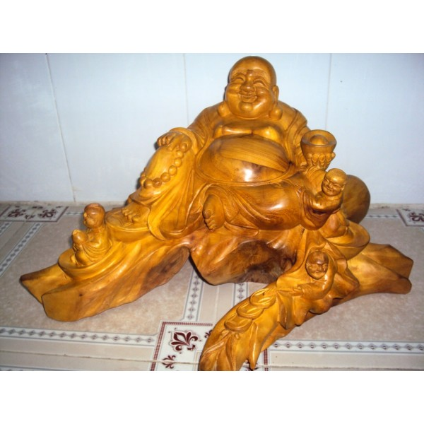New hand carved wood art buddha statue sculpture