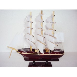 Mini Handmade Wood Art Model Ship - Handmade SAIL BOAT - Desk Decoration