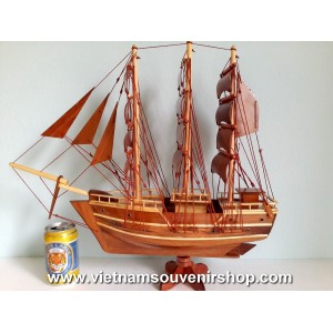 Wood Art Model Ship 20'- Handmade SAIL BOAT - Desk Decoration - Home Decor