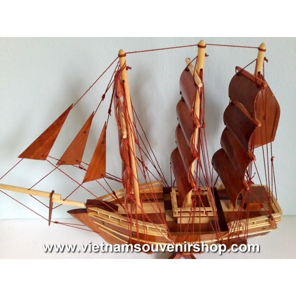 Wood Art Model Ship 20u0027  Handmade SAIL BOAT   Desk Decoration   Home Decor