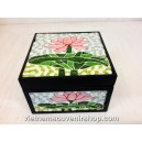 Hanmade Vietnam Jewelry box with Handcrafted Quilling - Lotus Flower pattern
