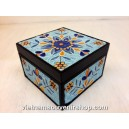 Hanmade Vietnam Jewelry box with Handcrafted Quilling - Yellow Flower pattern