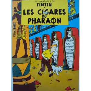 Vietnam Lacquer Art Paiting/ Plate picture -Tintin- Cigars of the pharaoh
