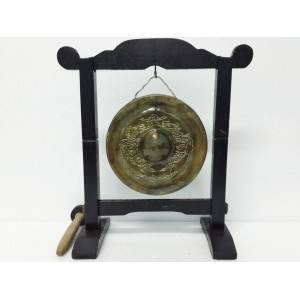 Hand Carved Vietnam Brass Gong -Sculpture Pattern of DRAGON