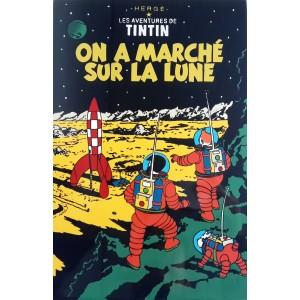 Vietnam Lacquer Art Paiting/ Plate - TINTIN Explorers on the Moon