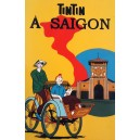 Vietnam Beautiful Lacquer Art Paiting/ Plate picture - Tintin visit SAI GON
