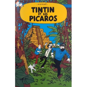 Vietnam Beautiful Lacquer Art Paiting/ Plate picture - TINTIN and picaros