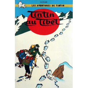 Vietnam Lacquer Art Paiting/ Plate -The Adventures of Tintin - Tintin in Tibet