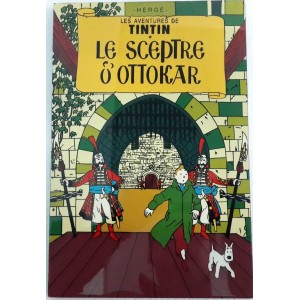 Vietnam Lacquer Art Paiting/ Plate picture -TINTIN King Ottokar's Sceptre