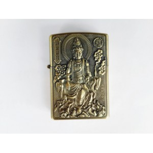 Hand Carved Vietnam Lighter -with statue Buddha - very rare N5