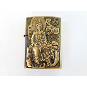 Hand Carved Vietnam Lighter -with statue Buddha - very rare N6