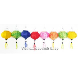 Set of 8 Mini Silk Lanterns 10cm  - for Christmas Decor - silk lanterns for wholesale