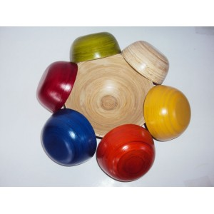 Set of 7 Bamboo Bowls - many colors - Handmade from Vietnam