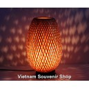 Handmade bamboo night-lamp for desk decor 13''- lamp for wedding decorations