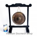 Handmade Vietnam Brass Gong 8'' - for desk decorations - Home decor