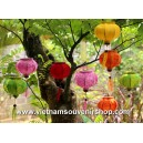 Set of 8 Mini Silk Lanterns 10cm  - for wedding decoration - lanterns for wholesale