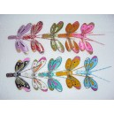 Set of 10 Hand Carved Painted Self Balancing Bamboo Butterfly Decor
