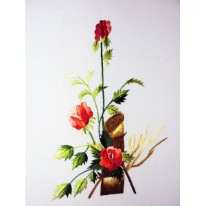 Vietnam Handmade needlepoint Embroidery Picture - Rose -Very beautiful Flowers