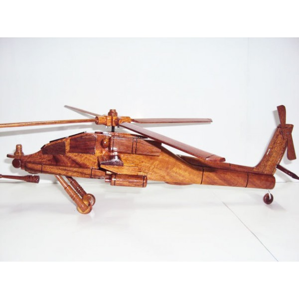 wooden apache helicopter model 2