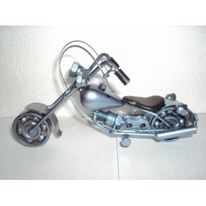 Hand Carved Green Metal Art Model Motorcycle HARLEY DAVIDSON