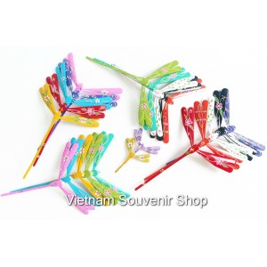 Wholesale : Hand Carved Painted Self Balancing Bamboo Dragonfly , many size