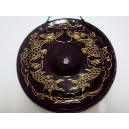 Hand Carved Vietnam Mini Brass Gong -Sculpture Pattern of Dragon