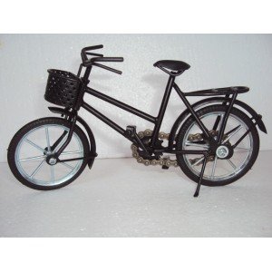 Hand Carved Mini Metal Art Model Bicycle - Iron handmade Black Bicycle Gift