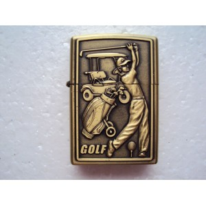 Hand Carved Vietnam Lighter -with Golf athletes - very nice - Handmade Lighter