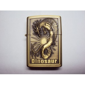 Hand Carved Lighter -Dinosaur War - Very nice - Handmde lighter