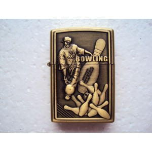 Hand Carved Lighter - Bowling athletes - Very rare - Handmade Lighter